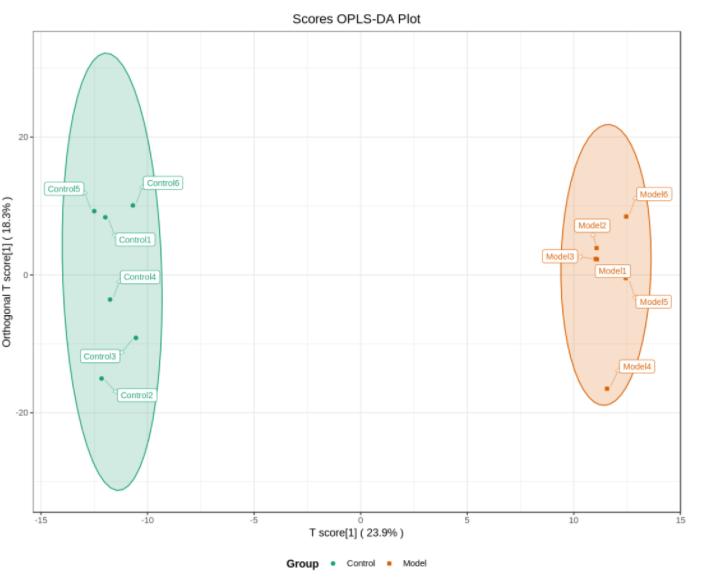OPLS-DA score chart.