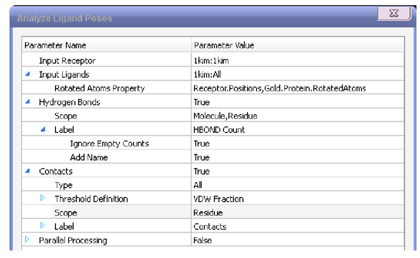 process parameter setting